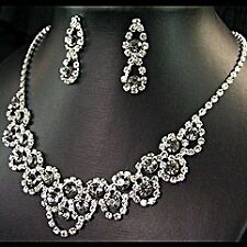 BRIDAL/WEDDING  Crystal/Diamonte Necklace Set *185**