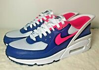 """Nike Air Max 90 """"Flyease"""" Shoes Sneakers Pink Blue White CU0814-101 Men's Size 8"""