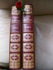"""LA FONTAINE  """" CONTES & NOUVELLES """" 2 volumes  Belles Illustrations de FRAGONARD"""