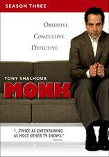 MONK - SEASON 3 - DVD - REGION 2 UK
