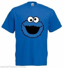 Azul Cookie Monster Camiseta medio hecho A Pedido