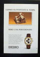 F129 - Advertising Pubblicità - 1992 - SEIKO CRONOGRAFO ANALOGICO