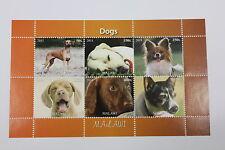 FOGLIETTO ANIMALI MALAWI ANNO 2011 RAZZE CANI DOGS