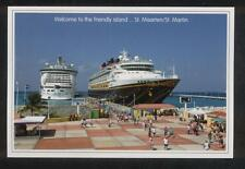 Cruise Ship Row . RCCL's Liberty of the Seas & Disney Magic . St. Maarten Boats