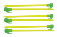 New Glow in the Dark Peg Pack 6 Pegs - Camping Safety Outdoors Tents