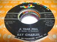 Soul 45 RAY CHARLES A Tear Fell on ABC - Paramount