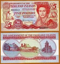 Falkland Islands, 5 pounds, 2005, QEII, Pick 17 CV-$48 UNC