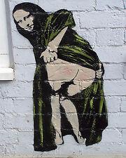 Banksy graffiti Street Art Mona Lisa Mooning premium 16 x 20 Canvas Print Venne