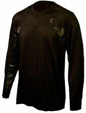 Browning Buckmark Performance Men's Shirt, Mossy Oak Camo Camouflage Brown