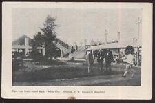 Postcard SYRACUSE New York/NY  White City Amusement Park Board Walk view 1906?