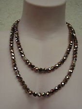 MIMCO  Crystal Faceted  STRAND  Bronze / necklace, BNWT, RRP $179