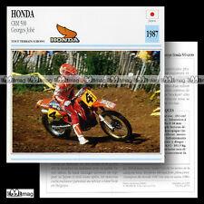 #029.05 HONDA CRM 500 & GEORGES JOBE 1987 (CR-M) Fiche Moto Motorcycle Card