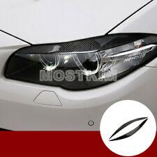 Carbon Fiber Headlight Eye Lid Eyebrow Cover For BMW 5 Series F10 F11 2011-2016