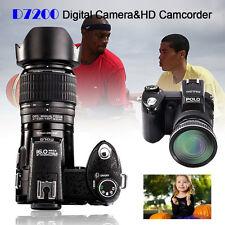"POLO D7200 3.0"" 33MP 1080P HD 21xZoom Digital Camera Video+LED Spotlight+3 Lens"