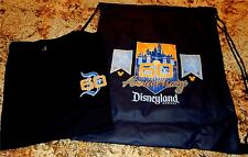 Disneyland 60th Anniversary Celebration July 17 1955 T-Shirt w/ Cinch Top Bag S