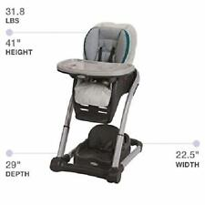 Graco Blossom 4-in-1 Convertible High Chair Seating System, Sapphire Portable.