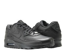 fe7cb211e1c09 Nike Air Max 90 Leather Black Black Men s Running Shoes 302519-001
