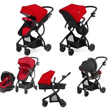 Red Baby Stroller Car Seat Carriage 3 in 1 Travel System Bassinet lightweight
