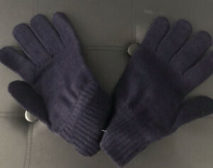 Mens XL  British Military Navy Wool Knitted Gloves Cold Weather Woollen Army MOD