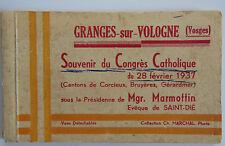 GRANGES  88     Carnet Souvenir du Congres Catholique de 1937