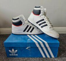 Adidas Originals Top Ten Hi Zapatillas Zapatos de baloncesto UK 12 Retro Blanco De Cuero