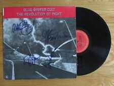 BLUE OYSTER CULT signed THE REVOLUTION BY NIGHT '83 Record 4 Members BUCK DHARMA