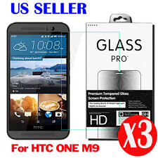 3X 9H 0.33MM Real Premium Tempered Glass Screen Protector Film For HTC ONE M9