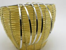 10 Silver Tone Metal Thin Headband Hair Band 4mm Hair Accessories Craft