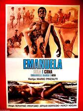 EMANUELLE BLACK AND WHITE 1976  SEXY  MALISA LONGO RITA MANNA EXYU MOVIE POSTER