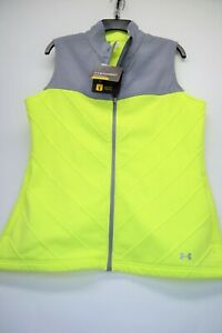 Under Armour Storm 1 Cold Gear Womens XL Loose Neon Yellow/Grey Vest NEW (C9)