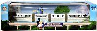 Disney Theme Park Collection 4-pc Monorail Set Die-Cast Vehicle Silver NIB e407
