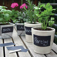 2Sets 16Pcs Multi Shape Small Chalk Black Board Mason Jar Labels Stickers Hj