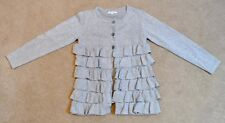 Girls silver metallic cardigan, size 10