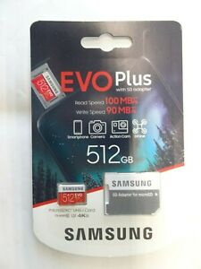 SAMSUNG EVO Plus 512GB Micro SD Card NEW