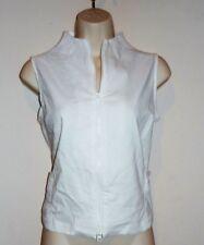 D. TERRELL LTD.  Women's White Stretch Vest Sz M