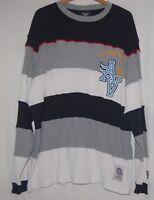 Vtg Avirex USA Sweater Mens L Pullover Crewneck Flight Academy Striped XXL 2XL