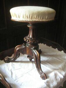 Victorian Mahogany Tripod Pedestal Piano Stool