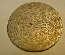 EXCAVATED HAMMERED 1518 SILVER MEDIEVAL COIN FOUND UNDERWATER METAL DETECTOR PI