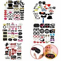 Photo Booth Party Props Kit Wedding Hen Bride Groom Birthday Party Decorations