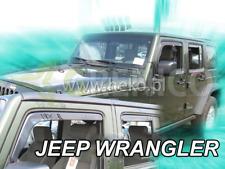 JEEP WRANGLER 5-portes 2007-2018 Deflecteurs de vent 4-pièces HEKO Bulles