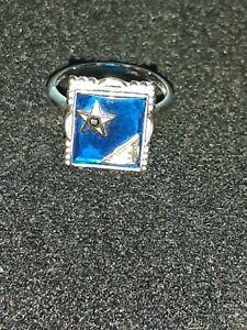 VTG Ring Solid 10K White GOLD Size 6