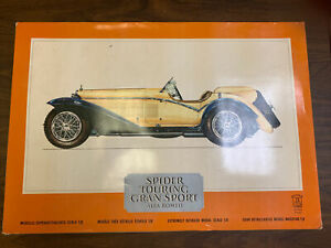 POCHER 1932 Alfa Romeo Spider Touring Grand Sport 1:8 Scale Model Kit NIB