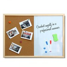 Message Cork Board Wood Frame Whiteboard Drawing Boards Combination Bulletin