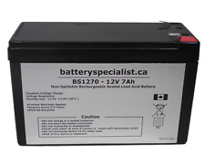 BS1270 - 12 Volts 7Ah -Terminal F1 - Rechargeable Battery - BS1270