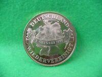 Medaille Deutschland Wiedervereinigung 1990 vergoldet