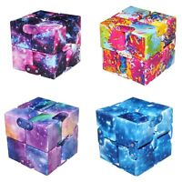 Galaxy Infinity Cube For Stress Relief Fidget Anti Anxiety Stress Funny EDC Toy