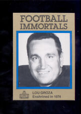 1985 Immortals LOU GROZA Cleveland Browns Hall of Fame Card