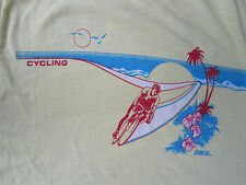 PACE Vintage 1980s Cycling Jersey T Shirt USA Made 50/50 Cotton Polyester XL VGC