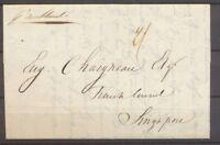 1842 Lettre de Nouvelle-Zélande au Consul Français de Singapour X1285