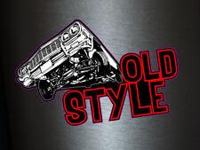 1 x adhesivo Old Style Mustang sticker tuning turbo Fun fiesta DJ Sound Music